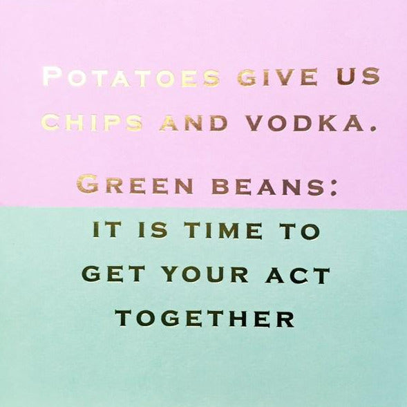 CARD | POTATOES
