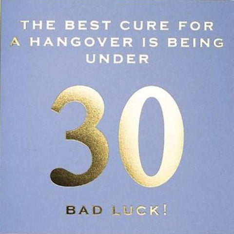 CARD | 30 BEST CURE FOR HANGOVER