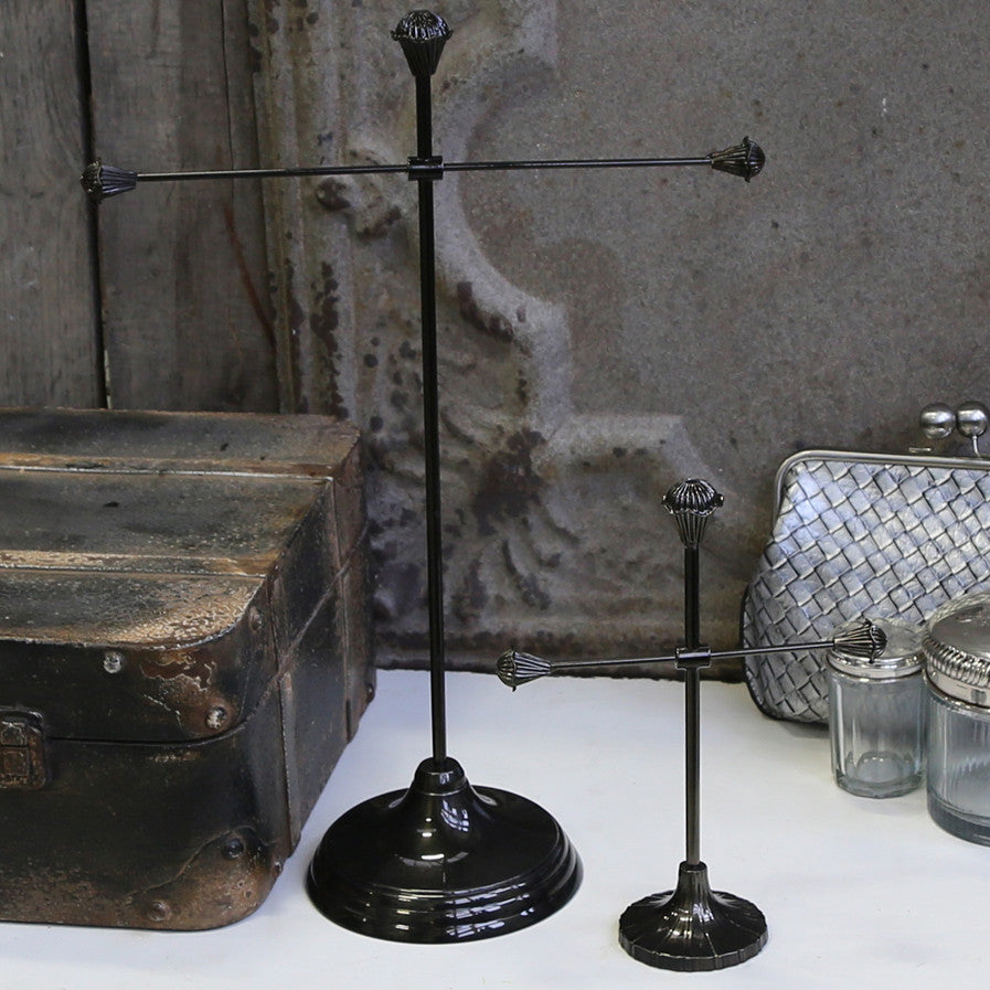 JEWELLERY STAND WITH 2 ARMS | ANTIQUE COAL