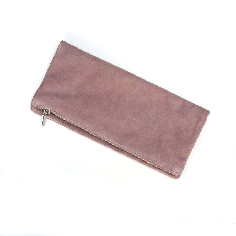 FOLD OVER CLUTCH WITH ZIP