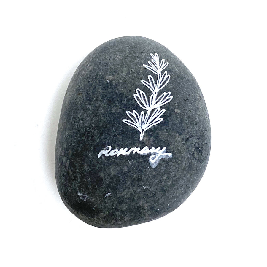 PEBBLE STONE HERB MARKER