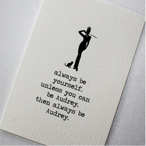 CARD | BE AUDREY