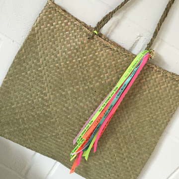 PALM LEAF BEACH BAG - PLAIN