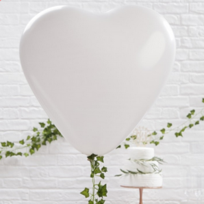 WHITE HEART BALLOONS | 3
