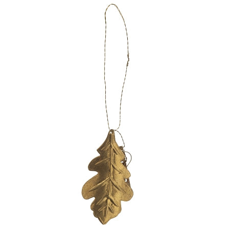 WALTHER & CO BRASS OAK LEAF ORNAMENT