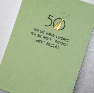 CARD | 50 AGED TO PERFECTION