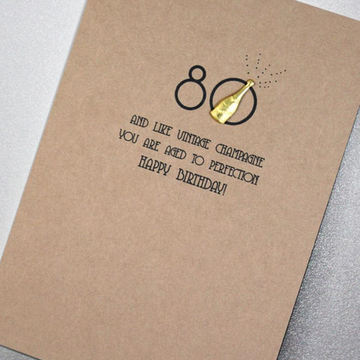 CARD | 80 AGED TO PERFECTION