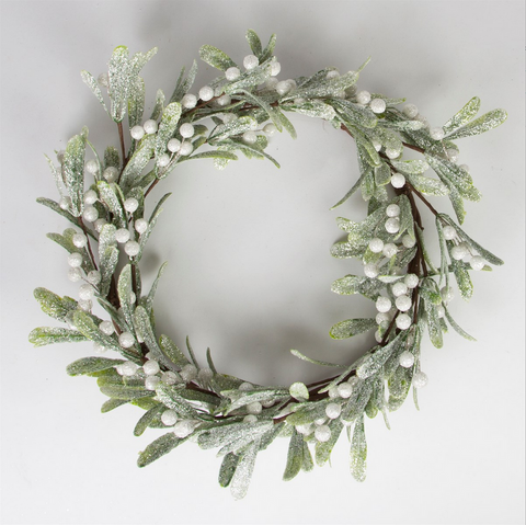 SILVER MISTLETOE WREATH