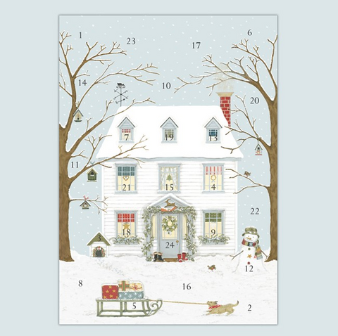 ADVENT CALENDAR CARD | CHRISTMAS HOUSE
