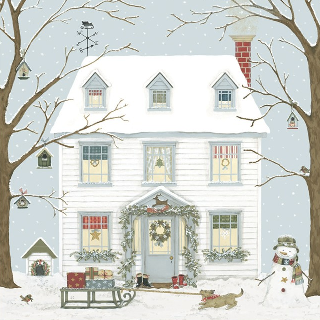 PACK 8 CARDS | CHRISTMAS HOUSE