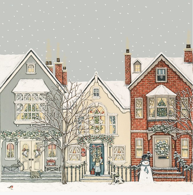 PACK 8 CARDS | SNOWY STREET