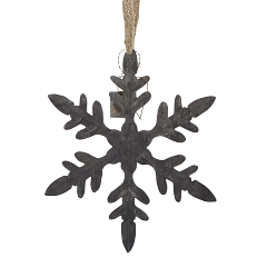 WALTHER & CO ZINC SNOWFLAKE DECORATION