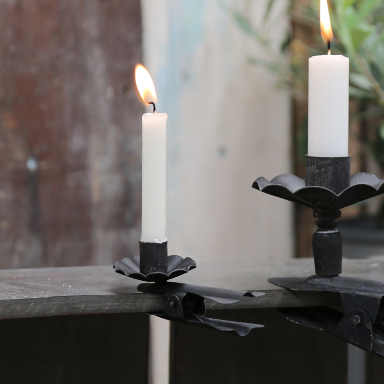 CLIP ON CANDLE HOLDER
