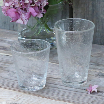 CLEAR BUBBLE DRINKING GLASS