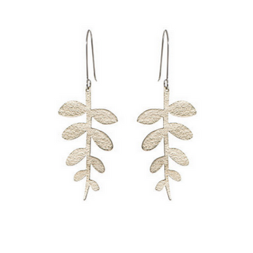 CORALIE BRASS FERN EARRINGS