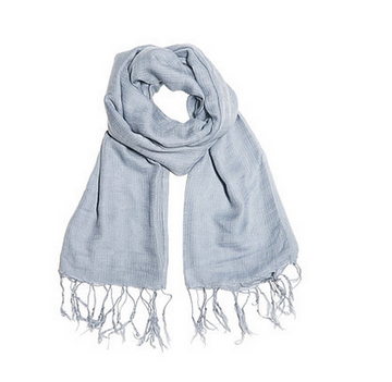 100% COTTON SCARF WITH TASSELS