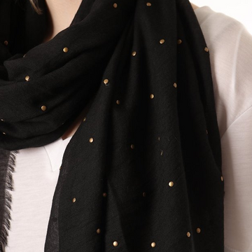 SCARF WITH METAL STUDS