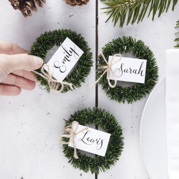 WREATH NAME PLACECARDS|TAGS