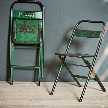 RECLAIMED INDIAN CINEMA FOLDING CHAIR