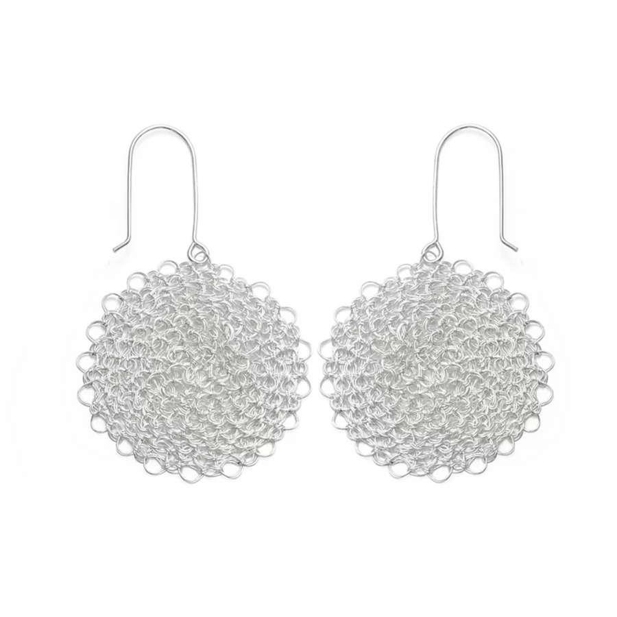 CROCHETED SILVER EARRINGS