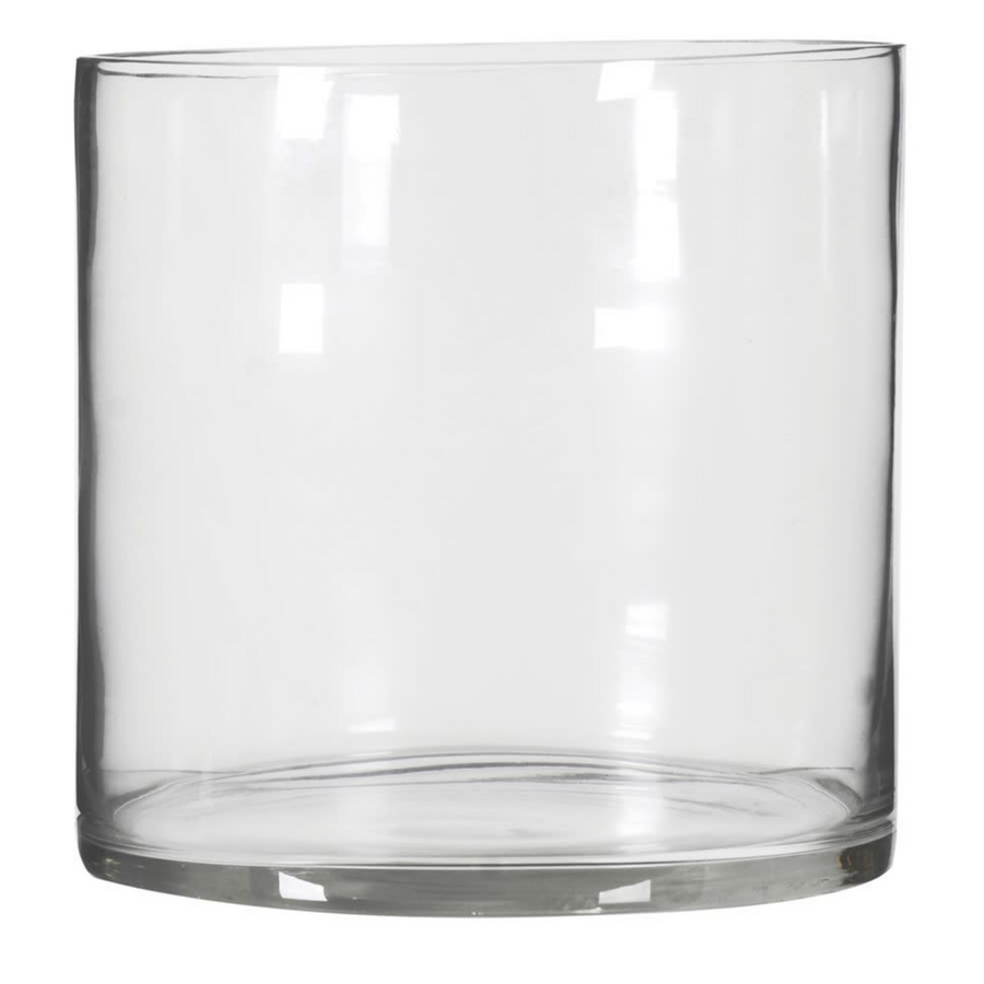 LARGE WIDE GLASS VASE