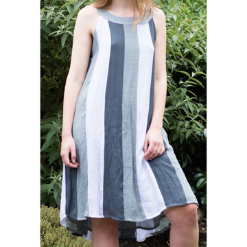 BAMBOO YOLK & FLARE DRESS