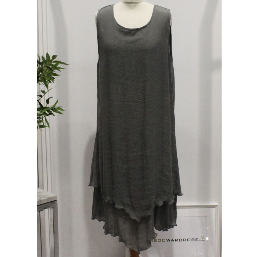 BAMBOO POINT & FRILL DRESS