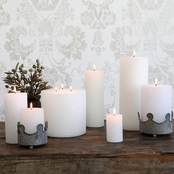RUSTIC 3 WICK CANDLE | WHITE