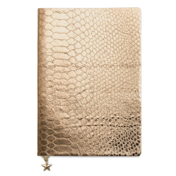ROSE GOLD CROC METALLIC A5 NOTEBOOK