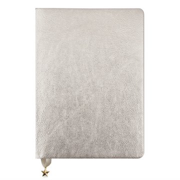 SILVER METALLIC A5 NOTEBOOK