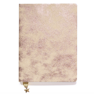 SATIN BLUSH METALLIC A5 NOTEBOOK