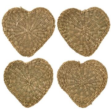 HEART SEAGRASS COASTERS | 4