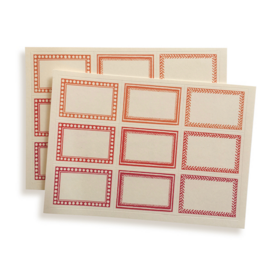 SMALL SELF ADHESIVE LABELS | 18
