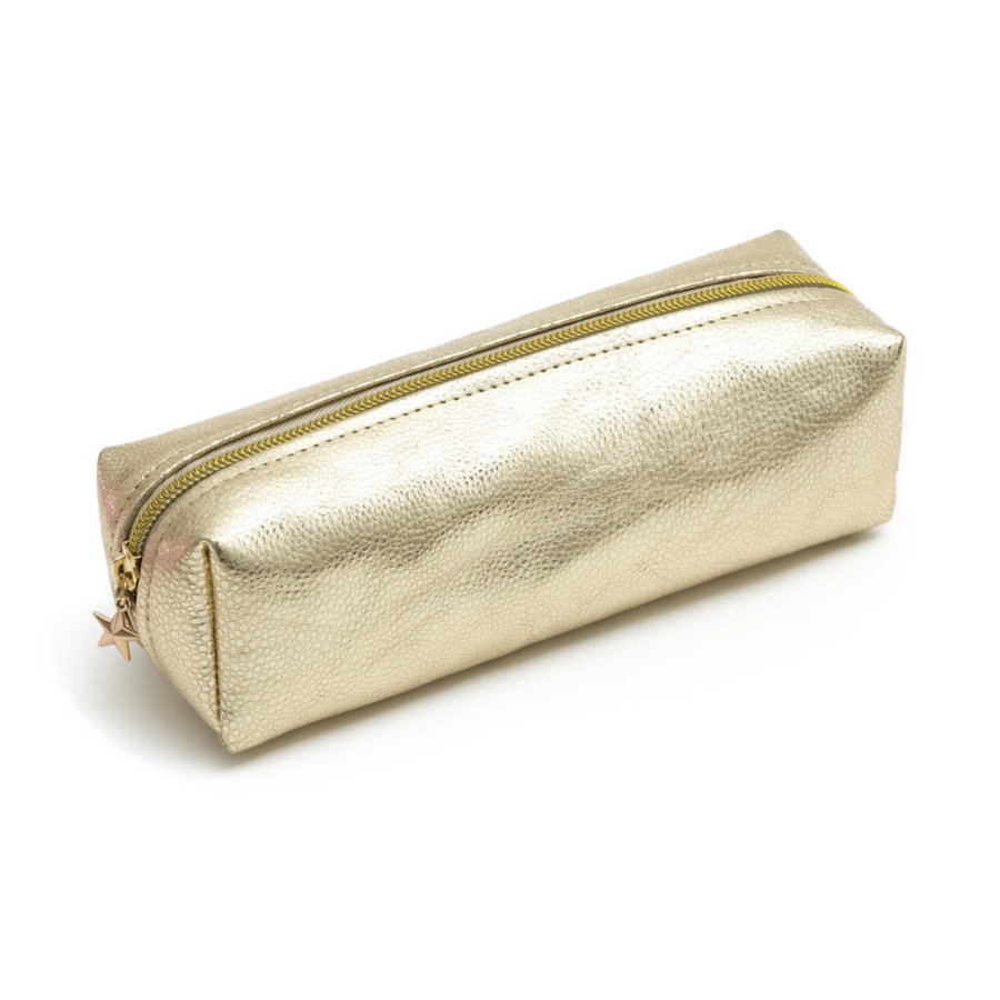 LIGHT GOLD METALLIC PENCIL CASE