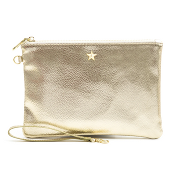 LIGHT GOLD METALLIC POUCH