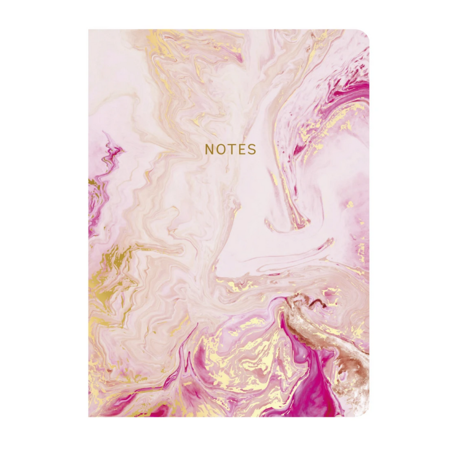 MARBLEOUS ROSE QUARTZ NOTEBOOK
