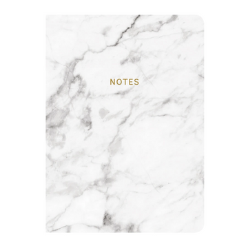 MARBLEOUS WHITE MARBLE NOTEBOOK