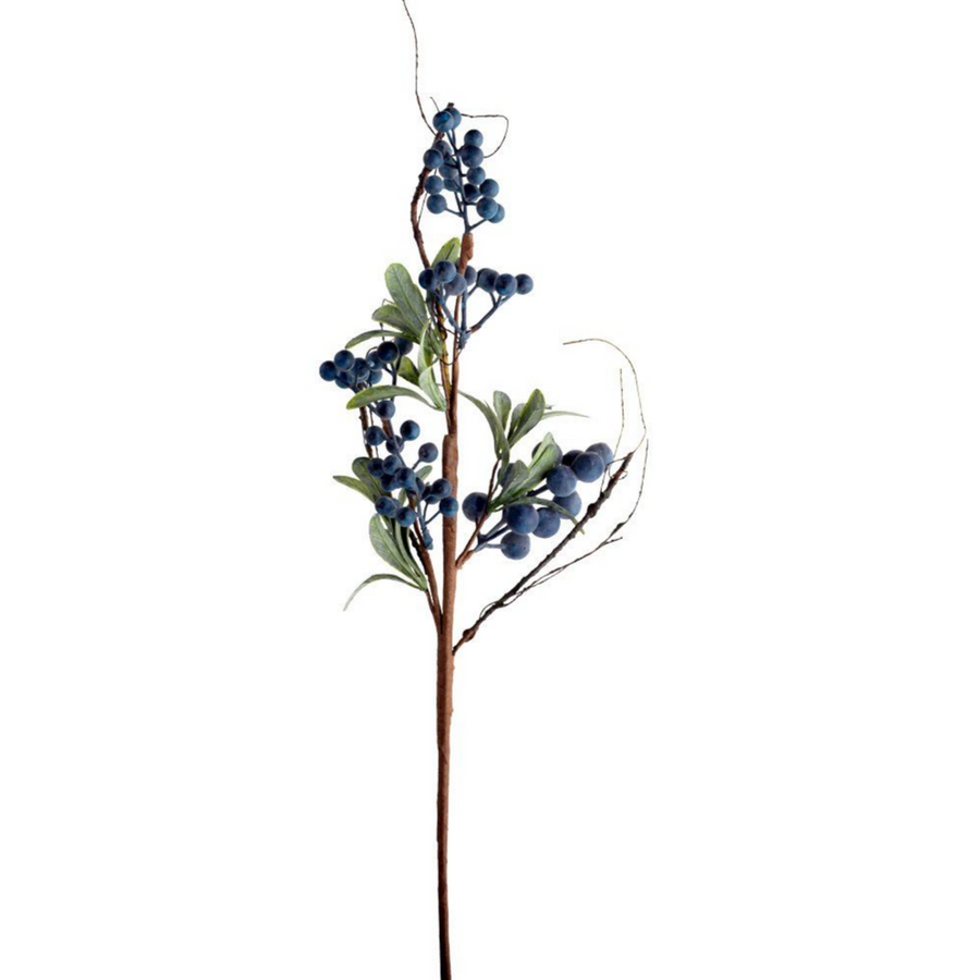 FAUX WILD BLUEBERRY SPRIG