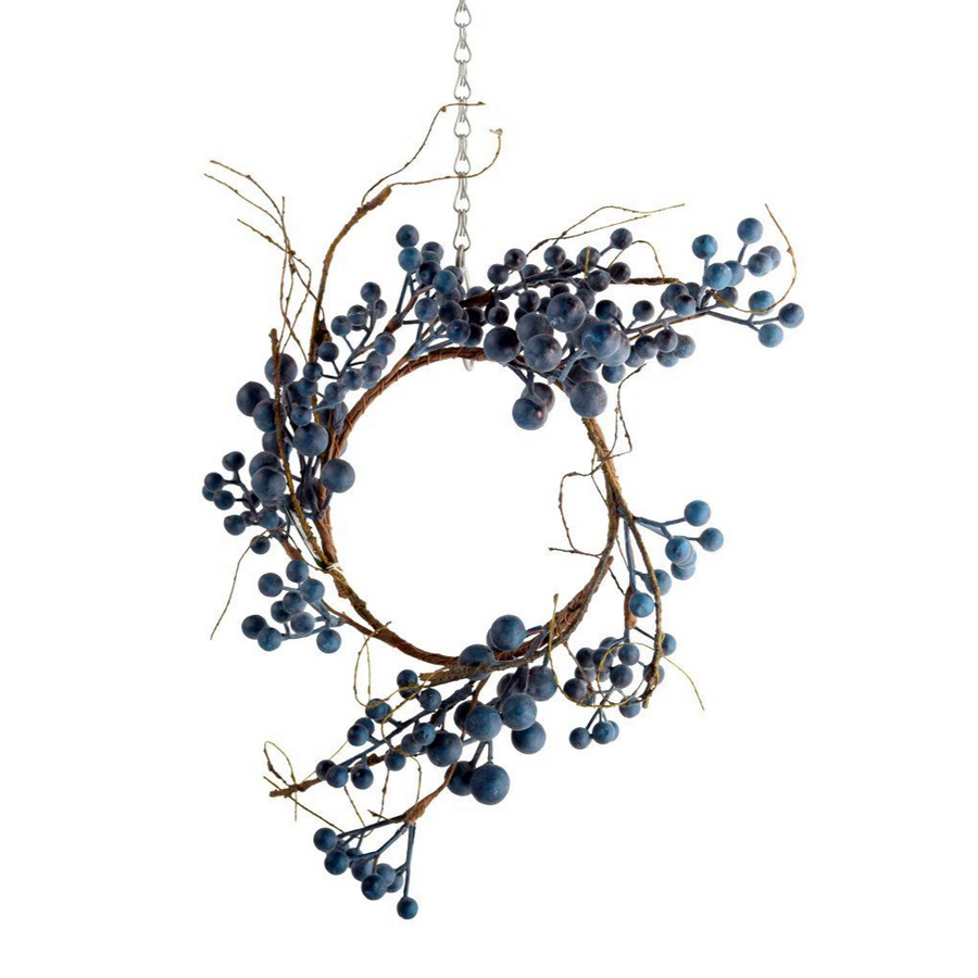 FAUX WILD BLUEBERRY TABLE WREATH