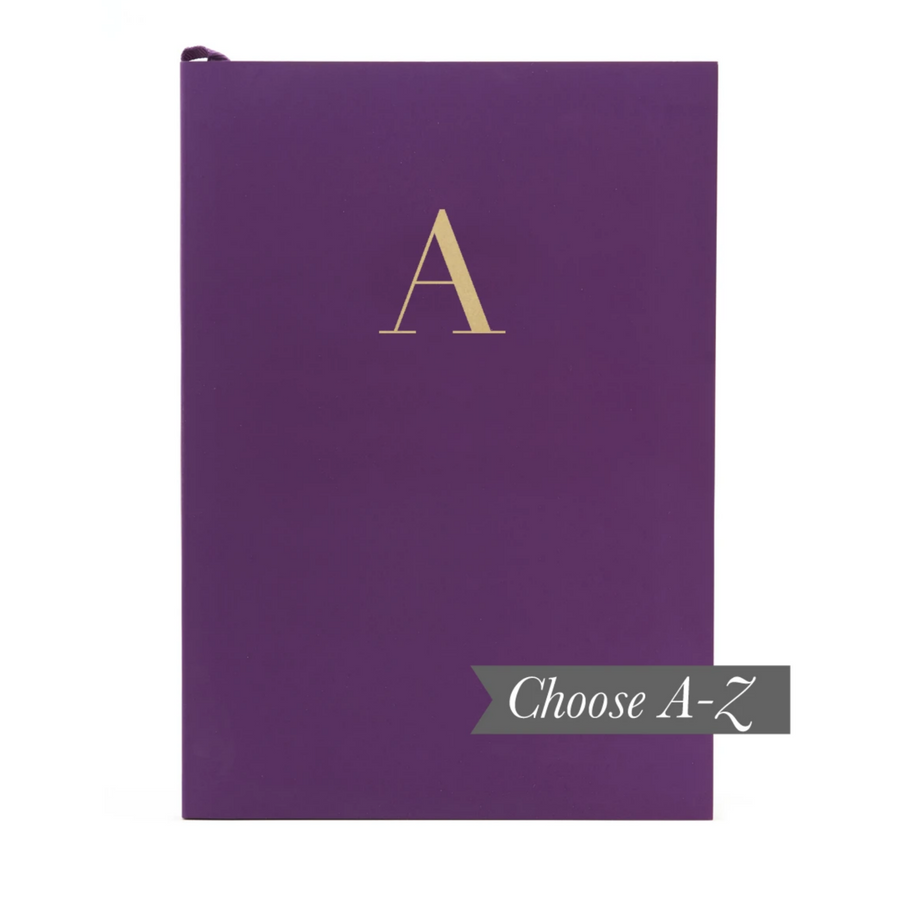 MONOGRAM A5 NOTEBOOK | RICH PLUM