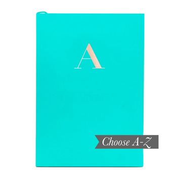 MONOGRAM A5 NOTEBOOK | TEAL