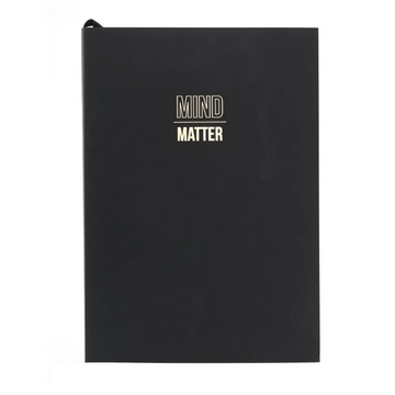WORDSMITH A5 BLACK NOTEBOOK | MIND OVER MATTER