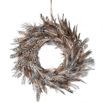STRIPE FEATHER MINI WREATH