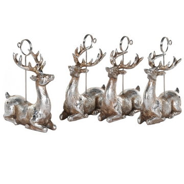 LAYING DEER PLACECARD HOLDERS | SET 4