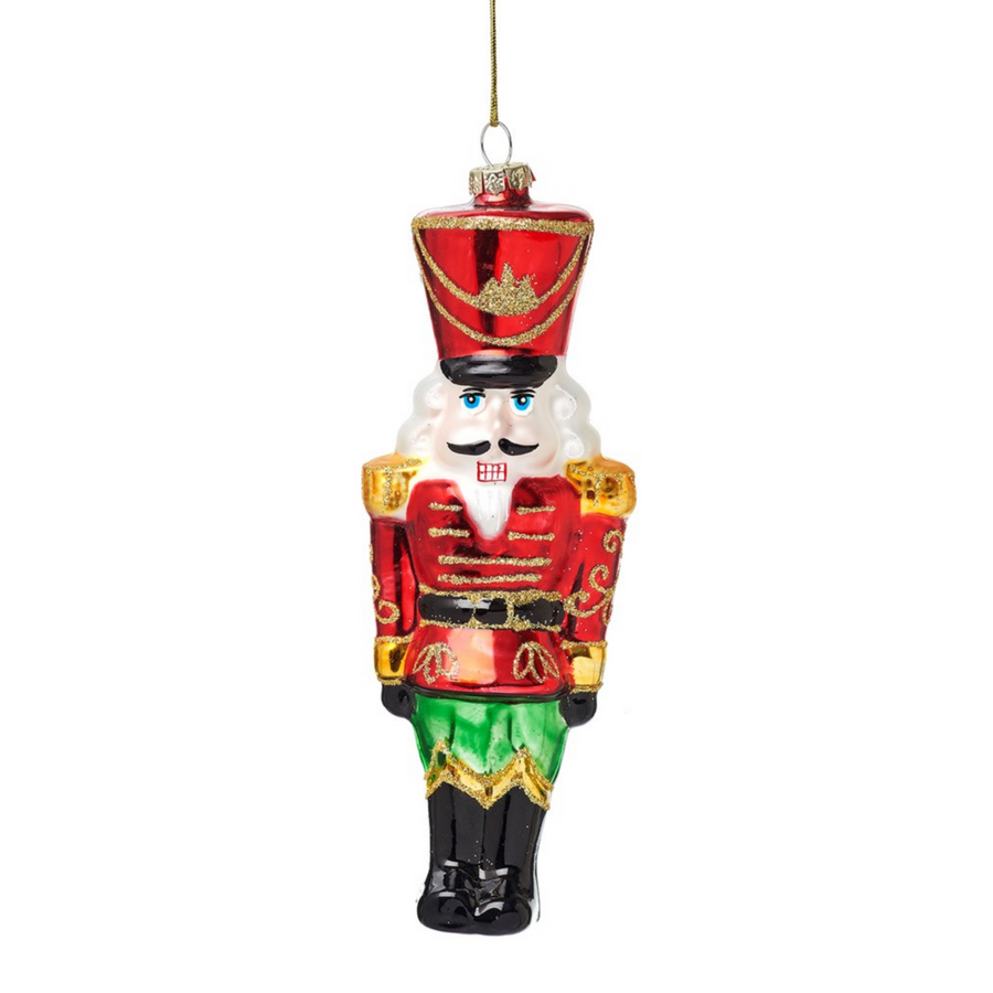 NUTCRACKER DOLL GLASS BAUBLE