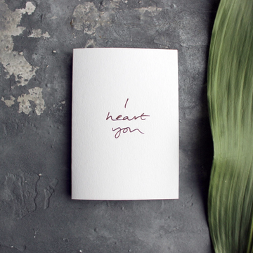 CARD | I HEART YOU