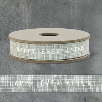 3 METRE RIBBON SPOOL | GREY HAPPY EVER AFTER