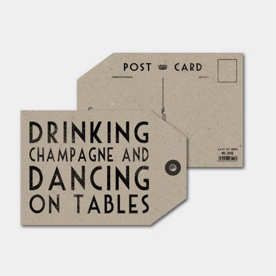 LABEL POSTCARD | DRINKING CHAMPAGNE