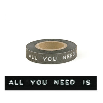 BLACK PRINTED TAPE | ALL YOU NEED IS LOVE
