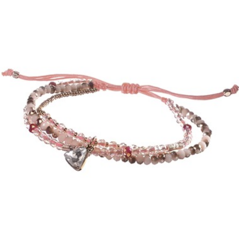 BEADED FRIENDSHIP BRACELET PINK